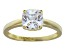 White Cubic Zirconia 18k Yellow Gold Over Sterling Silver Solitaire Ring 2.80ctw