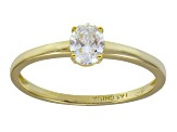 Bella Luce .70ct 18k Yellow Gold Over Sterling Silver Solitaire Ring