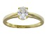 Bella Luce 1.10ct Oval 18k Yellow Gold Over Sterling Silver Solitaire Ring