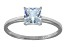Bella Luce 2.00ct Princess Cut Rhodium Over Sterling Silver Solitaire Ring