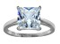 Bella Luce 6.65ct Princess Cut Rhodium Over Sterling Silver Solitaire Ring