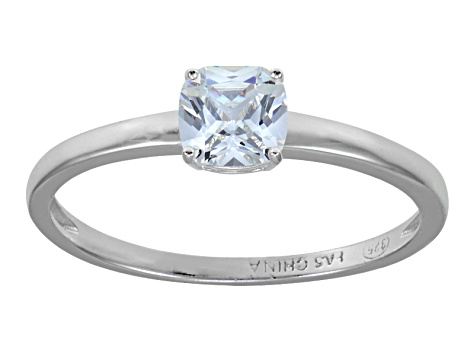 Bella Luce Rhodium Over Sterling Silver Solitaire Ring