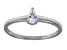 Bella Luce .45ct Pear Shape Rhodium Over Sterling Silver Solitaire Ring