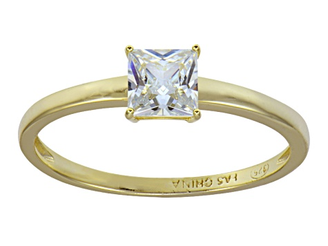 Bella Luce 1.15ct 18k Yellow Gold Over Sterling Silver Solitaire Ring