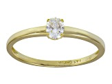 Bella Luce .33ct Oval 18k Yellow Gold Over Sterling Silver Solitaire Ring