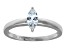 Bella Luce .57ct Marquise  Rhodium Plated Sterling Silver Solitaire Ring
