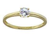 Bella Luce .75ct 18k Yellow Gold Over Sterling Silver Solitaire Ring