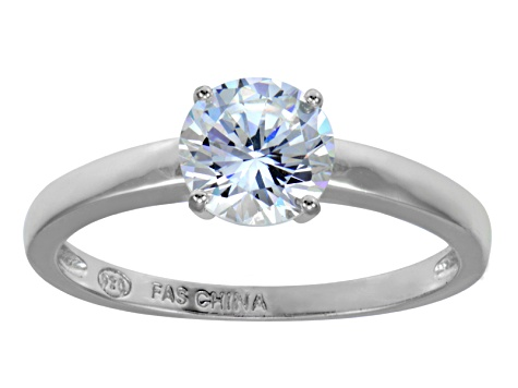 Bella Luce 2.00ct Round Rhodium Over Sterling Silver Solitaire Ring
