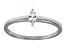 Bella Luce .25ct Marquise Rhodium Over Sterling Silver Solitaire Ring