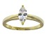 Bella Luce .76ct Marquise 18k Yellow Gold Over Sterling Silver Solitaire Ring
