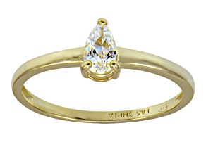 Bella Luce .64ct 18k Yellow Gold Over Sterling Silver Solitaire Ring