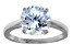 Bella Luce 6.25ct Round Rhodium Over Sterling Silver Solitaire Ring