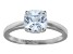 White Cubic Zirconia Rhodium Over Sterling Silver Solitaire Ring