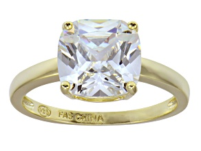 Bella Luce 18k Yellow Gold Over Sterling Silver Solitaire Ring
