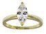 Bella Luce 1.54ct Marquise 18k Yellow Gold Over Sterling Silver Solitaire Ring
