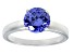 3.40ct Blue Cubic Zirconia Rhodium Over Sterling Silver Solitaire Ring
