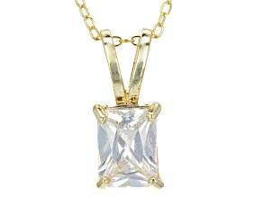 2.95ct Cubic Zirconia 18k Yellow Gold Over Sterling Silver Pendant With 18