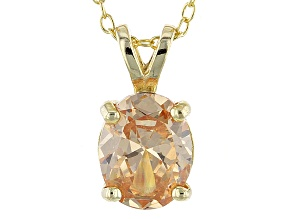 3.16ct Cubic Zirconia 18k Yellow Gold Over Sterling Silver Pendant With 18