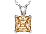 3.33ct Cubic Zirconia Sterling Silver Solitaire Pendant With 18