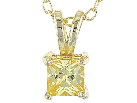 .66ct Cubic Zirconia 18k Yellow Gold Over Sterling Silver Pendant With 18