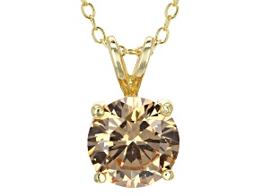 3.46ct Cubic Zirconia 18k Yellow Gold Over Sterling Silver Pendant With 18