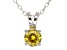 .79ct Yellow Cubic Zirconia Sterling Silver Solitaire Pendant With 18
