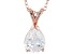 2.98ct Cubic Zirconia 18k Rose Gold Over Sterling Silver Pendant With 18