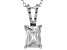 "2.95ct Cubic Zirconia Sterling Silver Solitaire Pendant With 18"" Chain"