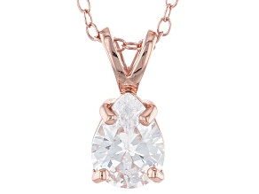 1.85ct Cubic Zirconia 18k Rose Gold Over Sterling Silver Pendant With 18