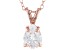 """1.85ct Cubic Zirconia 18k Rose Gold Over Sterling Silver Pendant With 18"""" Chain"""