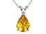 2.98ct Yellow Cubic Zirconia Sterling Silver Solitaire Pendant With 18