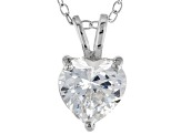2.90ct Cubic Zirconia Sterling Silver Solitaire Pendant With 18