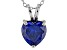 2.90ct Blue Cubic Zirconia Sterling Silver Solitaire Pendant With 18