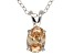 "1.30ct Cubic Zirconia Sterling Silver Solitaire Pendant With 18"" Chain"