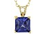 3.33ct Cubic Zirconia 18k Yellow Gold Over Sterling Silver Pendant With 18