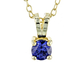 .43ct Cubic Zirconia 18k Yellow Gold Over Sterling Silver Pendant With 18