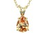 """1.85ct Cubic Zirconia 18k Yellow Gold Over Sterling Silver Pendant With 18"""" Chain"""