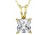 7.01ct Cubic Zirconia 18k Yellow Gold Over Sterling Silver Pendant With 18