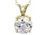 "4.68ct Cubic Zirconia 18k Yellow Gold Over Sterling Silver Pendant With 18"" Chain"