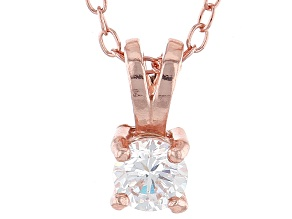 .43ct Cubic Zirconia 18k Rose Gold Over Sterling Silver Pendant With 18