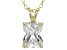 4.46ct Cubic Zirconia 18k Yellow Gold Over Sterling Silver Pendant With 18