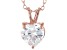 2.90ct Cubic Zirconia 18k Rose Gold Over Sterling Silver Pendant With 18