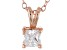.66ct Cubic Zirconia 18k Rose Gold Over Sterling Silver Pendant With 18