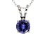 2.17ct Blue Cubic Zirconia Sterling Silver Solitaire Pendant With 18