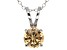 2.17ct Cubic Zirconia Sterling Silver Solitaire Pendant With 18