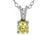 .43ct Yellow Cubic Zirconia Sterling Silver Solitaire Pendant With 18