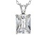 4.46ct Cubic Zirconia Sterling Silver Solitaire Pendant With 18