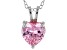 2.90ct Pink Cubic Zirconia Sterling Silver Solitaire Pendant With 18