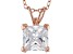 3.33ct Cubic Zirconia 18k Rose Gold Over Sterling Silver Pendant With 18