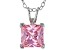 3.33ct Pink Cubic Zirconia Sterling Silver Solitaire Pendant With 18
